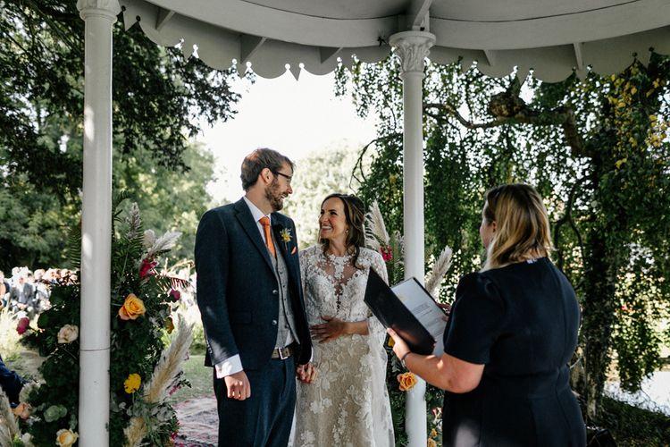 Civil ceremony at Preston Court wedding venue