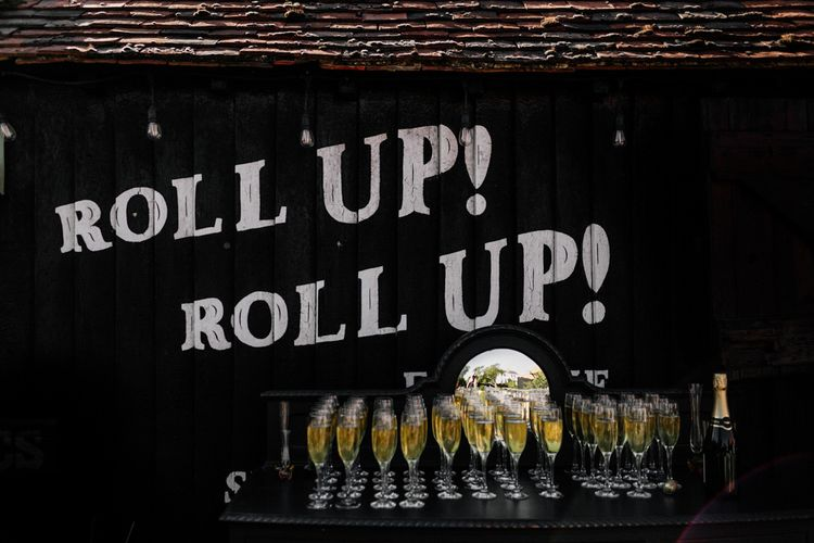 Roll up! Roll up! Champagne bar at Preston Court