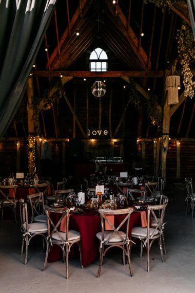 Preston Court wedding reception decor