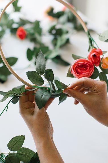DIY Bridal Hoop Bouquet
