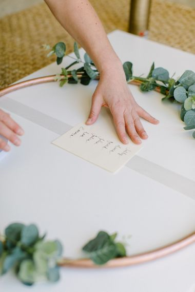 Table Plan for £30 | DIY Hula Hoop Table Plan with Greenery and Vintage Satin Ribbons