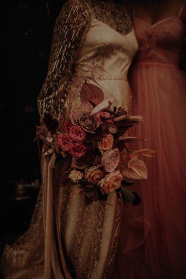 粉色玫瑰和玫瑰玫瑰花束
