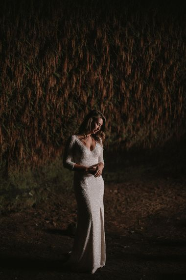 Iceland Elopement Wedding // Bride In Sequin Suzanne Harward Dress // Images By James Frost Photography // Personalised Wedding Vows