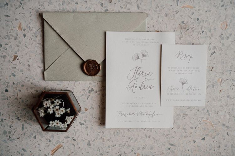 Wedding stationery for Italian wedding