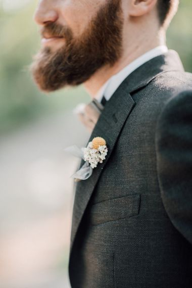Wedding buttonhole for groom
