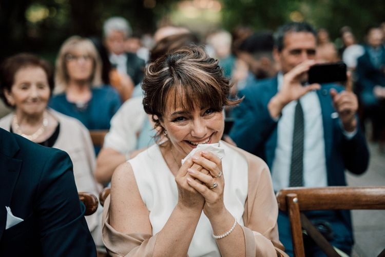 Guests get emotional during ceremony
