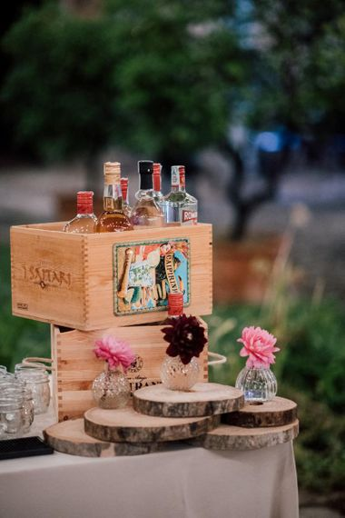 Gin bar at Italian wedding