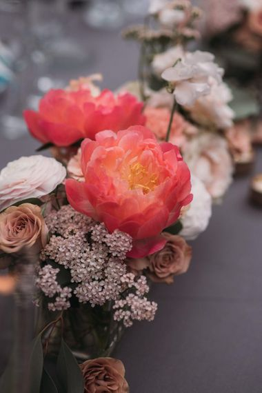Pink and Coral Wedding Flowers