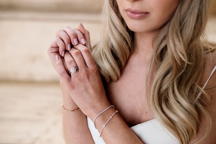 Delicate Silver Bracelets and Diamond Engagement Rings