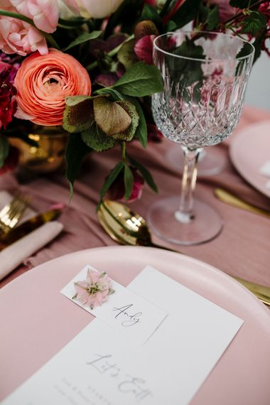 Sweet Name Place Card with Calligraphy Font by  Knockknockpennystudio