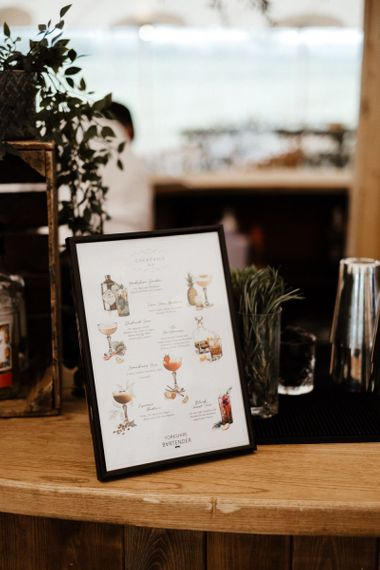 Wedding Cocktail Selection Sign
