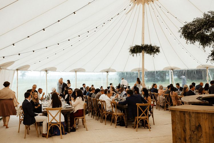 Wedding Reception Sperry Tent Set Up And Decor
