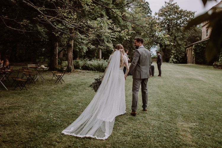 Bride In Leonora Wtoo by Watters // Image By Marine Marques Photographe