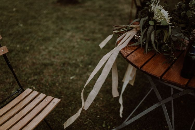 Silk Ribbon For Wedding Bouquet //  Image By Marine Marques Photographe