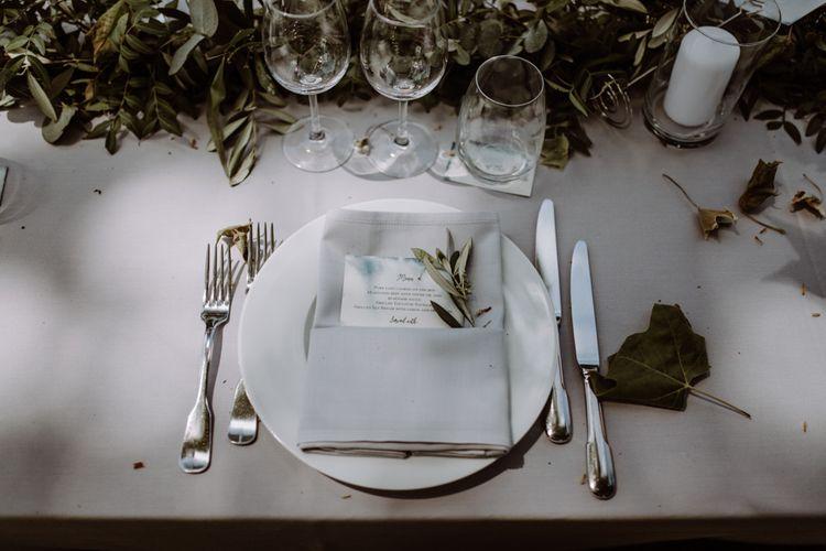 Outdoor Wedding Reception Destination Wedding France // Image By Marine Marques Photographe