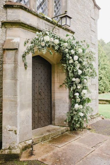 Church wedding flower arch