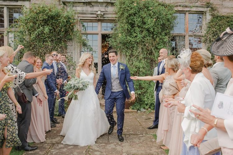 Confetti moment at Askham Hall