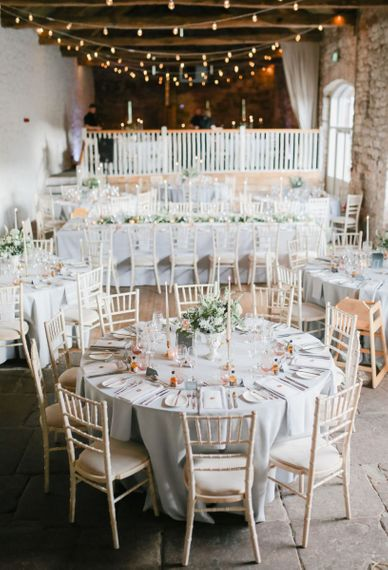 Askham Hall wedding reception decor