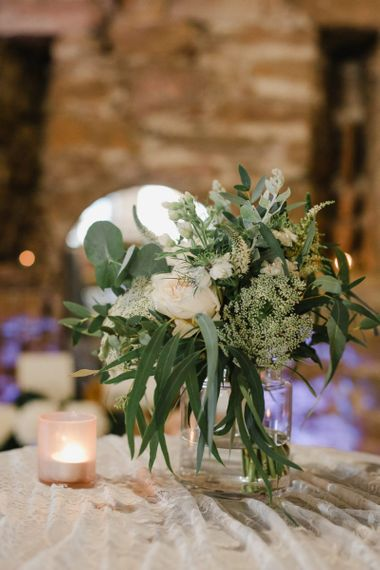 Wedding flowers in vase