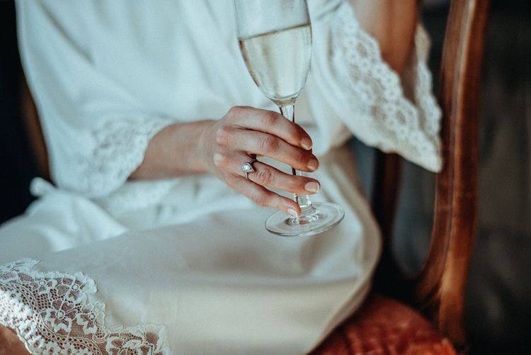 Teardrop Diamond Engagement Ring | Classic Country Wedding at Wadhurst Castle, East Sussex with Wedding Suppliers from RMW. The List | Foto Memories Photography