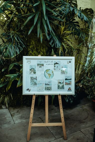 Wildflower Illustration Co.  Table Plan | Classic Country Wedding at Wadhurst Castle, East Sussex with Wedding Suppliers from RMW. The List | Foto Memories Photography