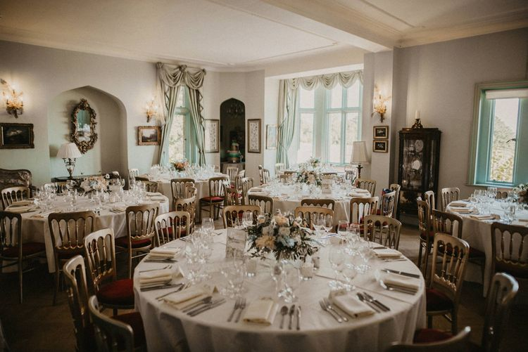 Wedding Reception Decor | Classic Country Wedding at Wadhurst Castle, East Sussex with Wedding Suppliers from RMW. The List | Foto Memories Photography