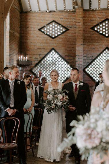 Stylish Greenery Barn Wedding Shushtoke Cripps by www.graceandmitch.com