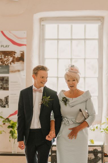Walking Down The Aisle / Foliage And Plant Filled Industrial Wedding At Gibson Mill And The Arches Dean Clough Yorkshire With Images From Lianne Gray Photography