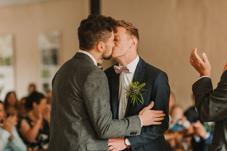 Wedding Ceremony At Gibson Mill / Foliage And Plant Filled Industrial Wedding At Gibson Mill And The Arches Dean Clough Yorkshire With Images From Lianne Gray Photography