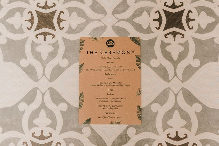 Leaf Print Wedding Stationery / Image By Lianne Gray Photography
