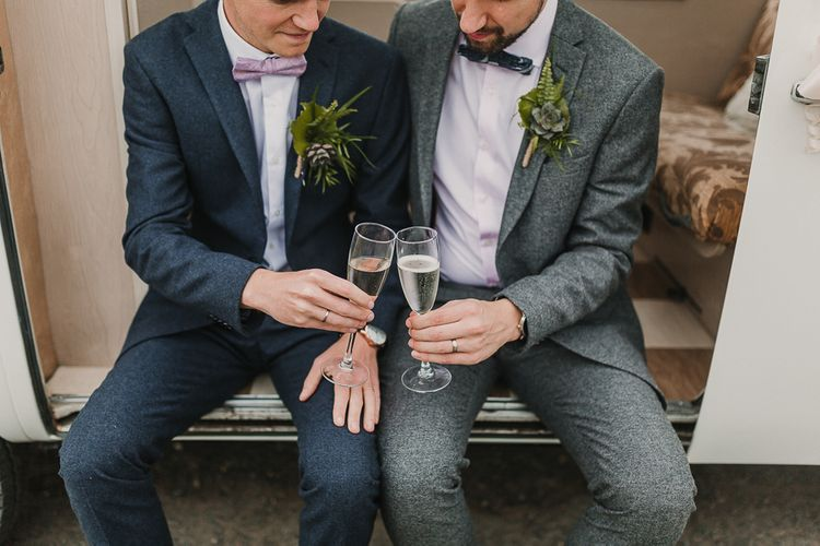 The Grooms Couple Portraits / Foliage And Plant Filled Industrial Wedding At Gibson Mill And The Arches Dean Clough Yorkshire With Images From Lianne Gray Photography