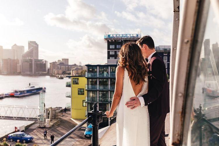 Trinity Buoy Wharf dry hire wedding venue with views over London