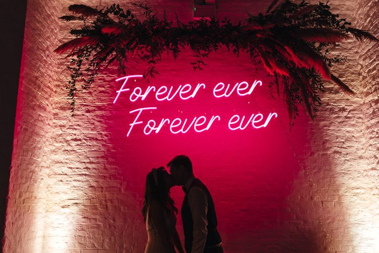 Epic personalised neon sign at  dry hire wedding venue