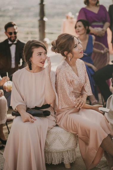 Stylish Wedding Guests in Blush Pink Dresses