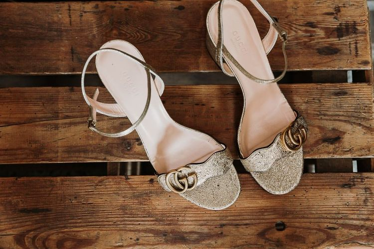 Gucci Gold Wedding Shoes