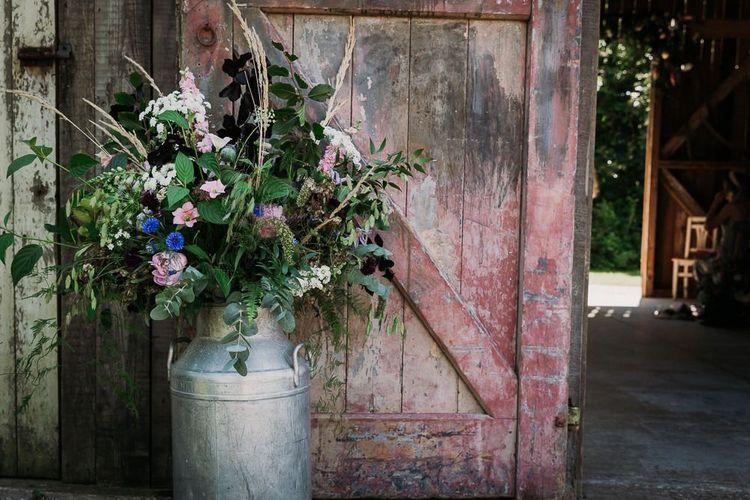 Wild Wedding Flowers For Rustic Wedding