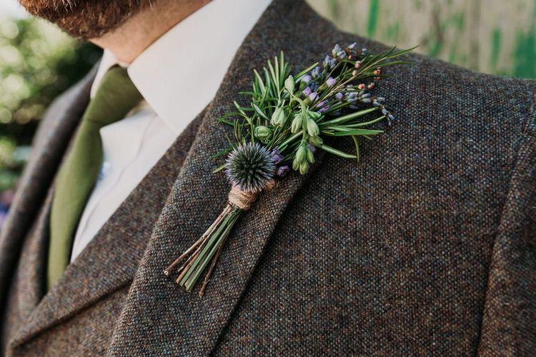 Wildflower Groom Buttonhole