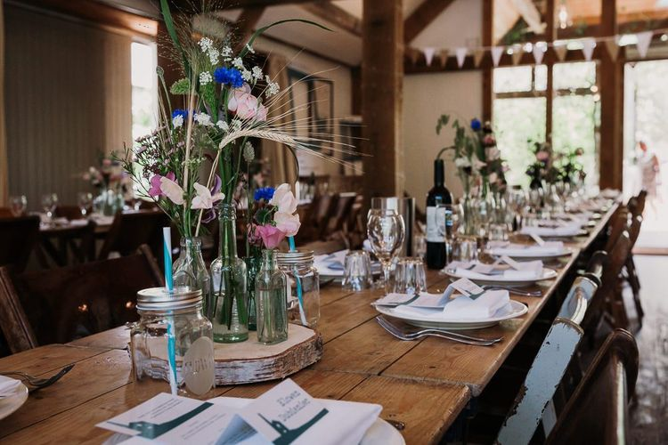 Rustic Wedding Table Decor and Set Up