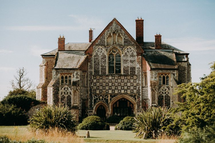 Outdoor humanist wedding at Butley Priory in Suffolk