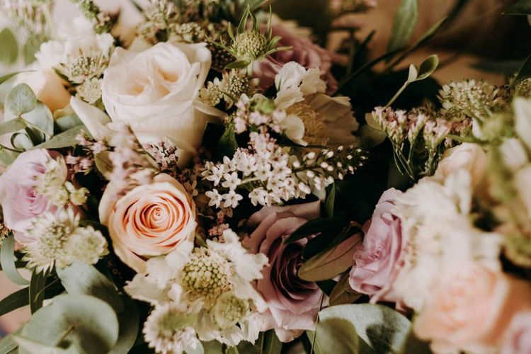 Blush wedding flowers