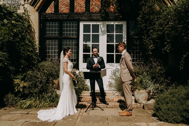 Humanist wedding ceremony at Butley Priory in Suffolk