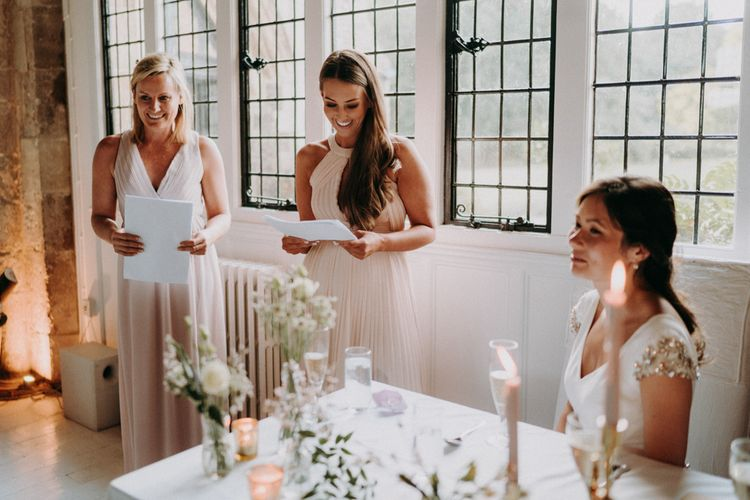 Wedding reception bridesmaid speeches