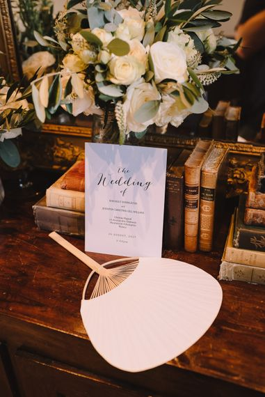 Fan & Wedding Stationery | Sophisticated Outdoor Wedding at Chateau Riguad, France with Neutral Colour Palette | Modern Vintage Weddings Photography
