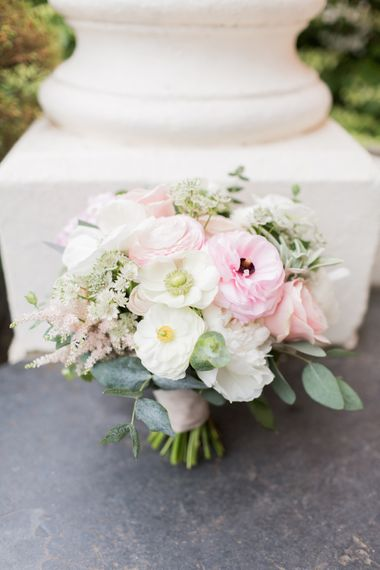 Pastel Wedding Bouquet // Almonry Barn Somerset Wedding With Bridesmaids In Pale Pink Mori Lee Dresses And Bride In BHLDN With Images From Bowtie And Belle Photography