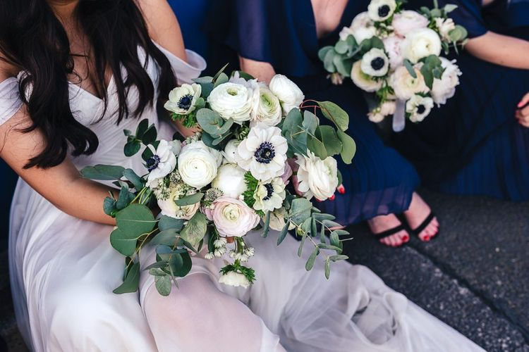 Romantic Bridal Bouquet with Ranunculus and Anemone Flowers