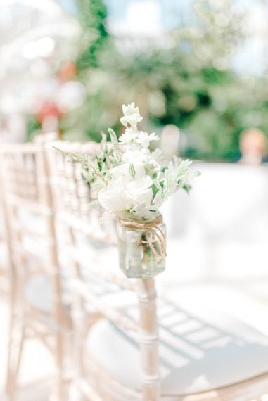 White Flower Aisle Decor // Giselle Dress By Anna Campbell Sefton Park Palm House Wedding Photography By Sarah Jane Ethan