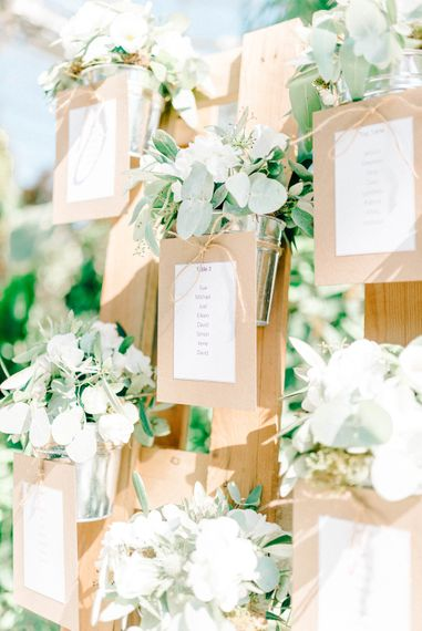 Rustic Wooden Table Plan For Wedding // Giselle Dress By Anna Campbell Sefton Park Palm House Wedding Photography By Sarah Jane Ethan