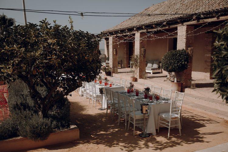 Courtyard at Casa la Siesta Spanish wedding venue