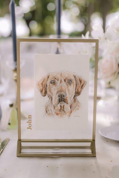 Hand drawn wedding table name pictures