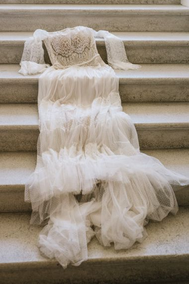 Tulle and Lace Flora Bridal Wedding Dress